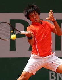Duck Hee Lee in azione al Roland Garros juniores - Getty Images