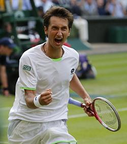 Sergiy Stakhovsky, Ucraina, ha battuto Federer a Wimbledon nel 2013