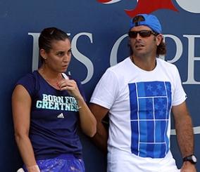 Salvador Navarro e Flavia Pennetta (Tonelli/FIT)
