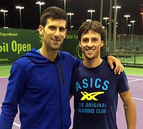 Novak Djokovic e Andrea Arnaboldi